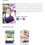 screenshot of author page.
