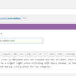 screenshot of author options: name, email address, bio, and how to sort the name.