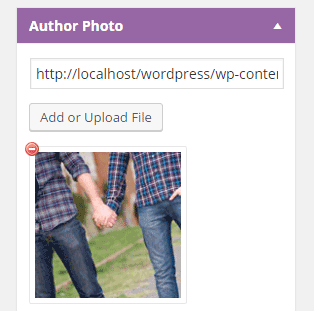 screenshot of author option to add a profile photo