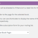 Screenshot of default placeholder page setting.